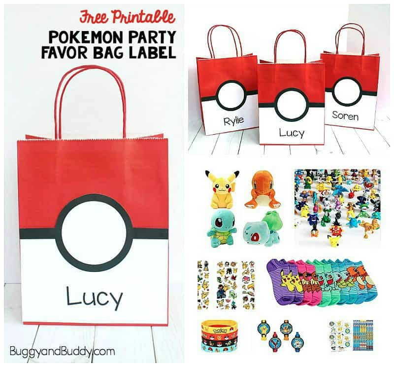 picture regarding Free Printable Pokemon referred to as Pokemon Bash Desire Bag with Absolutely free Printable - Buggy and Good friend