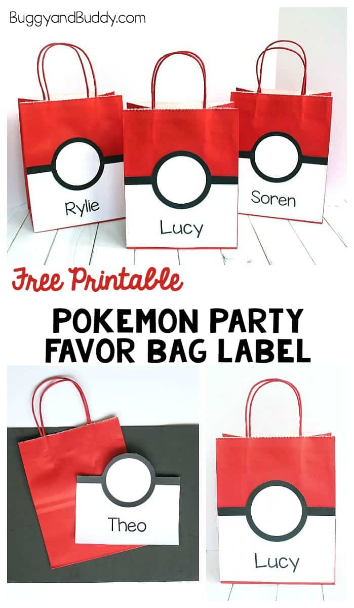 picture about Pokeball Printable identify Pokemon Celebration Choose Bag with Absolutely free Printable - Buggy and Mate