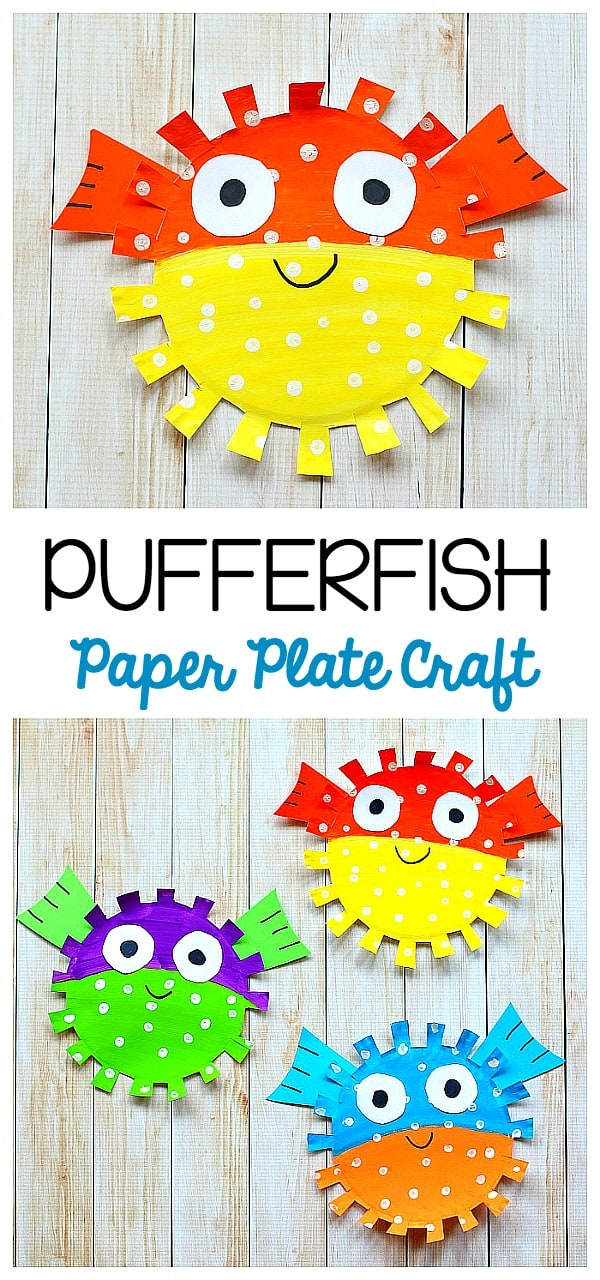 paper plate fish craft paper plate pufferfish craft for buggy and buddy 5108