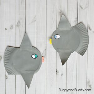 Ocean Sunfish Paper Plate Craft for Kids (Mola Fish)