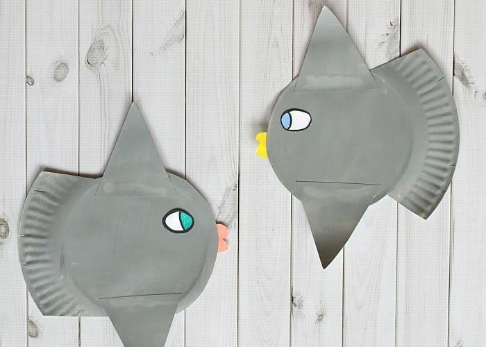 paper plate ocean sunfish craft for kids