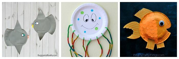 paper plate ocean animal crafts