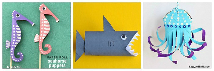 Ocean Crafts For Kids Made From Common Materials Around The House