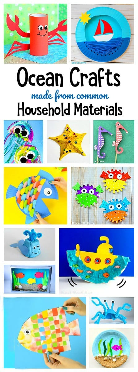 Ocean Crafts For Kids Made From Common Materials Around The