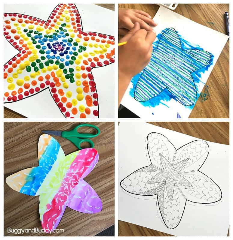 picture relating to Printable Starfish titled Basic Starfish Craft for Children with Cost-free Printable Template