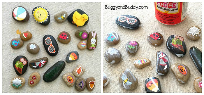 how to make story stones or seasonal rocks
