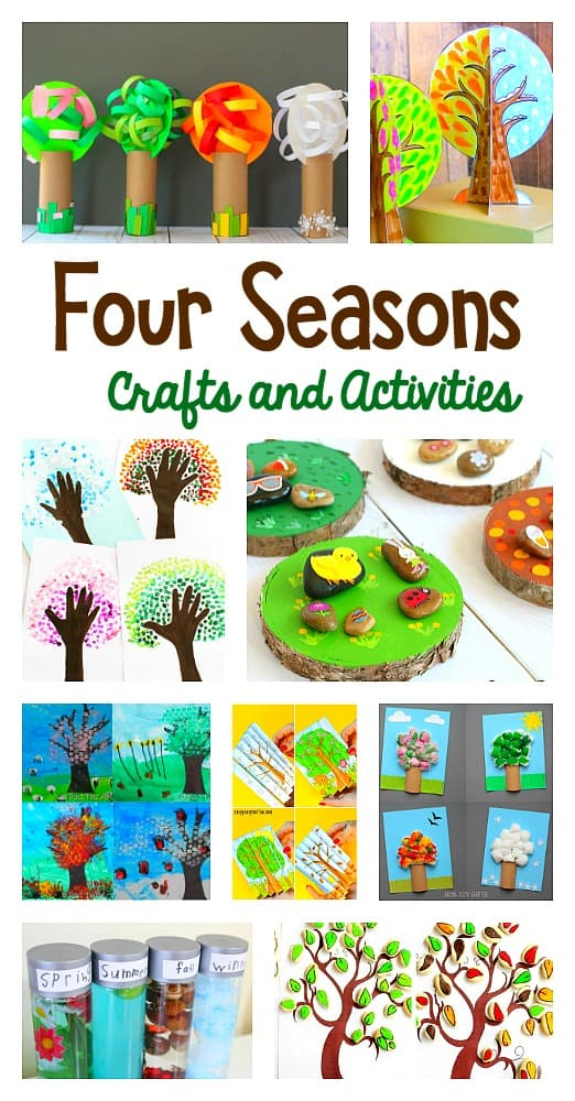 The cutest and most creative four seasons crafts and activities. All kinds of art projects and hands-on learning activities for spring, summer, fall, and winter!