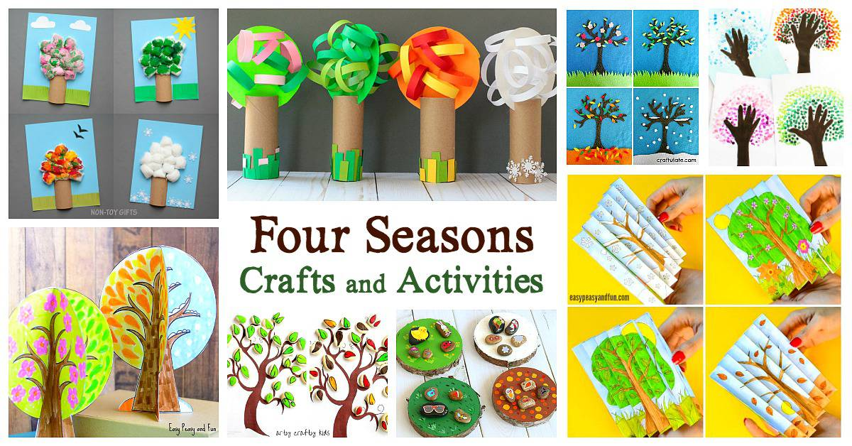 15 Of The Cutest Four Seasons Crafts And Activities For Kids Buggy