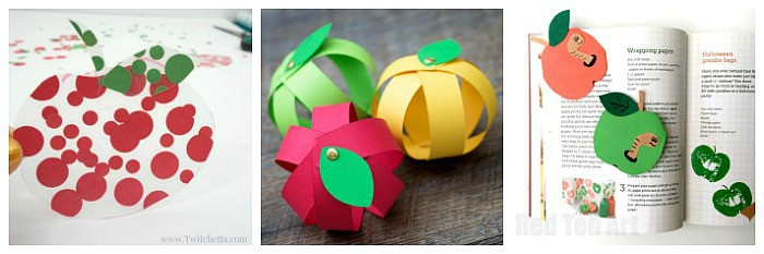construction paper apple crafts for kids