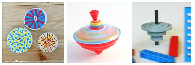 spinning top science for kids and top craft for kids