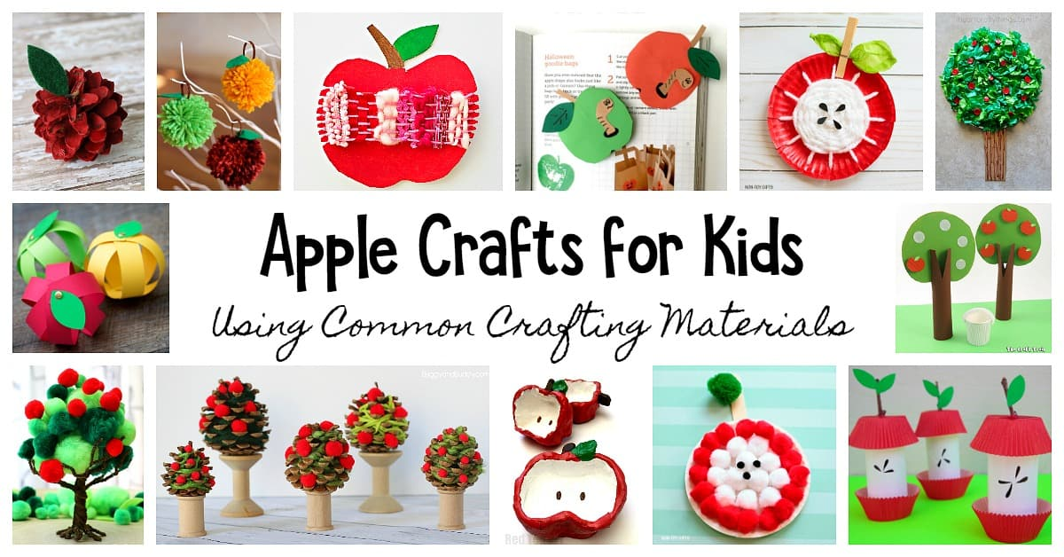 40 Apple Crafts For Kids Using Common Crafting Materials Buggy And Buddy