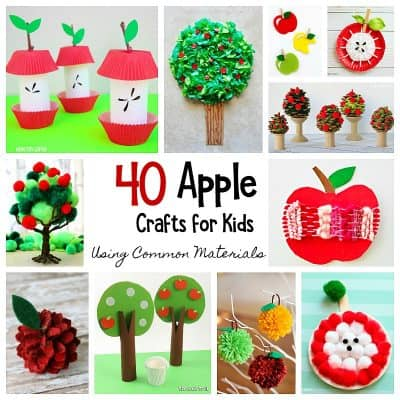 40 Apple Crafts for Kids Using Common Crafting Materials