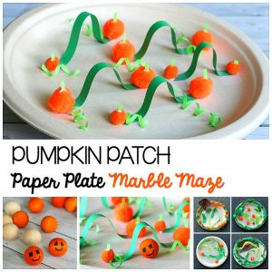Halloween STEM Challenge: Pumpkin Patch Paper Plate Marble Maze