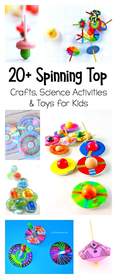 20+ Spinning Top Science Activities, top crafts, and spinning top toys for kids!