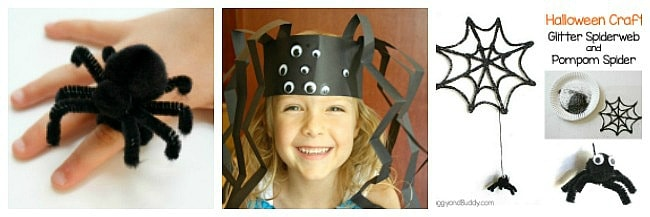 spider and spiderweb crafts for kids for halloween