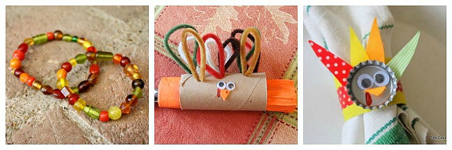 Thanksgiving napkin ring crafts for kids