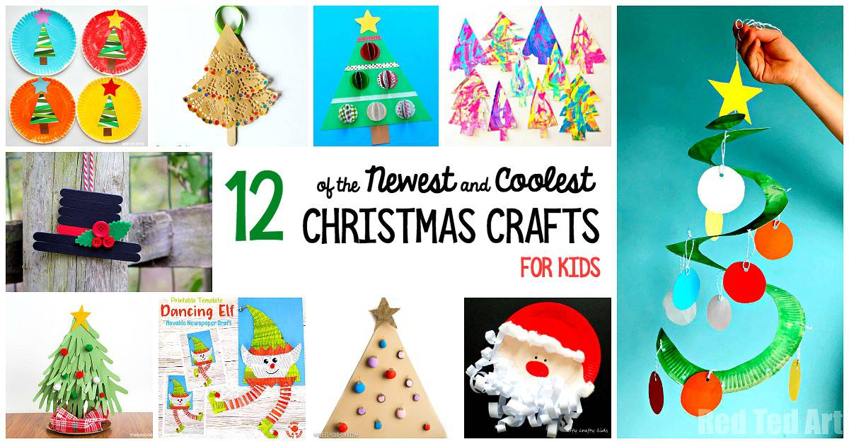 12 of the newest and coolest Christmas Crafts for Kids this Year!