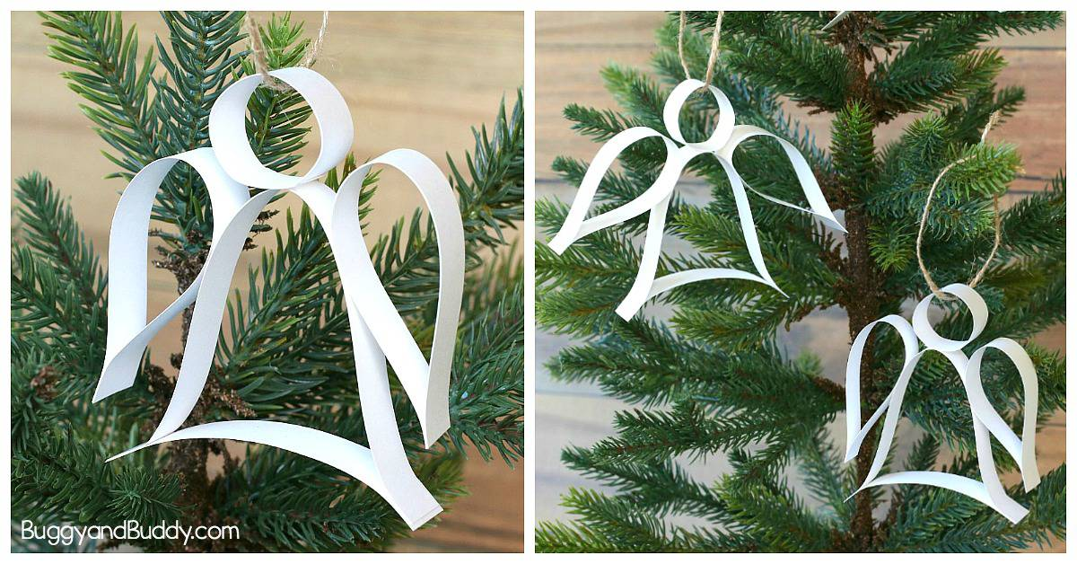 Easy DiY Paper Strip Angel Christmas Ornament Craft for Kids and Adults