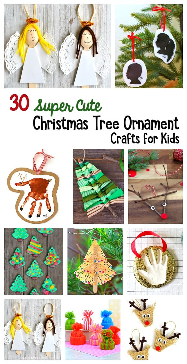 30 Super Adorable Christmas Tree Ornament Crafts for Kids