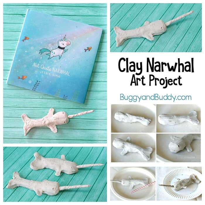 Clay Narwhal Art Project for Kids: Fun ocean and arctic animal craft for kids