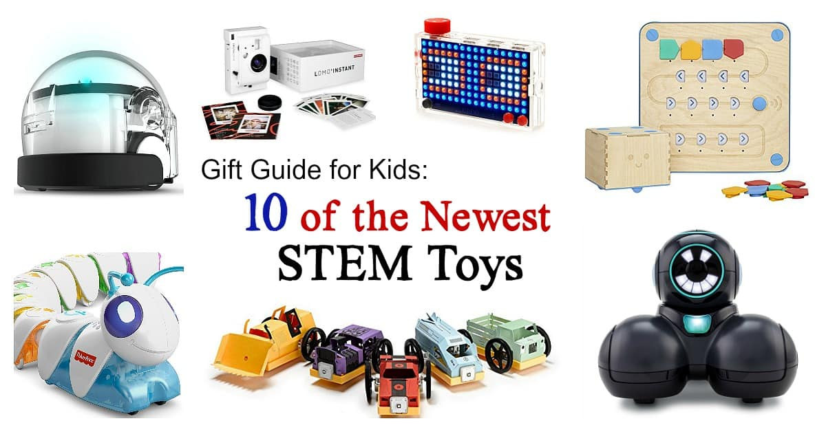 10 of the newest STEM toys for kids- stem gift guide for kids