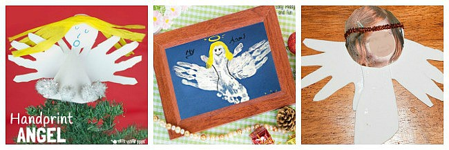 handprint angel crafts for kids