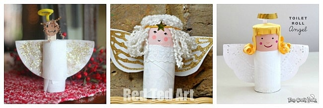 Toilet Roll Angel Craft for Kids