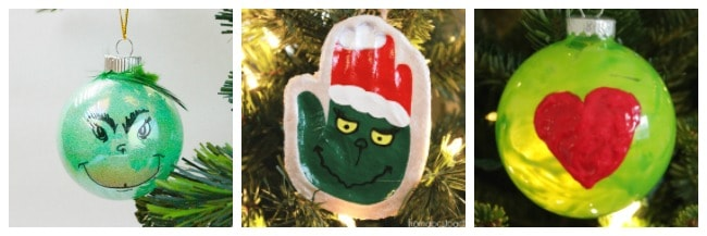 Grinch christmas ornament crafts for kids