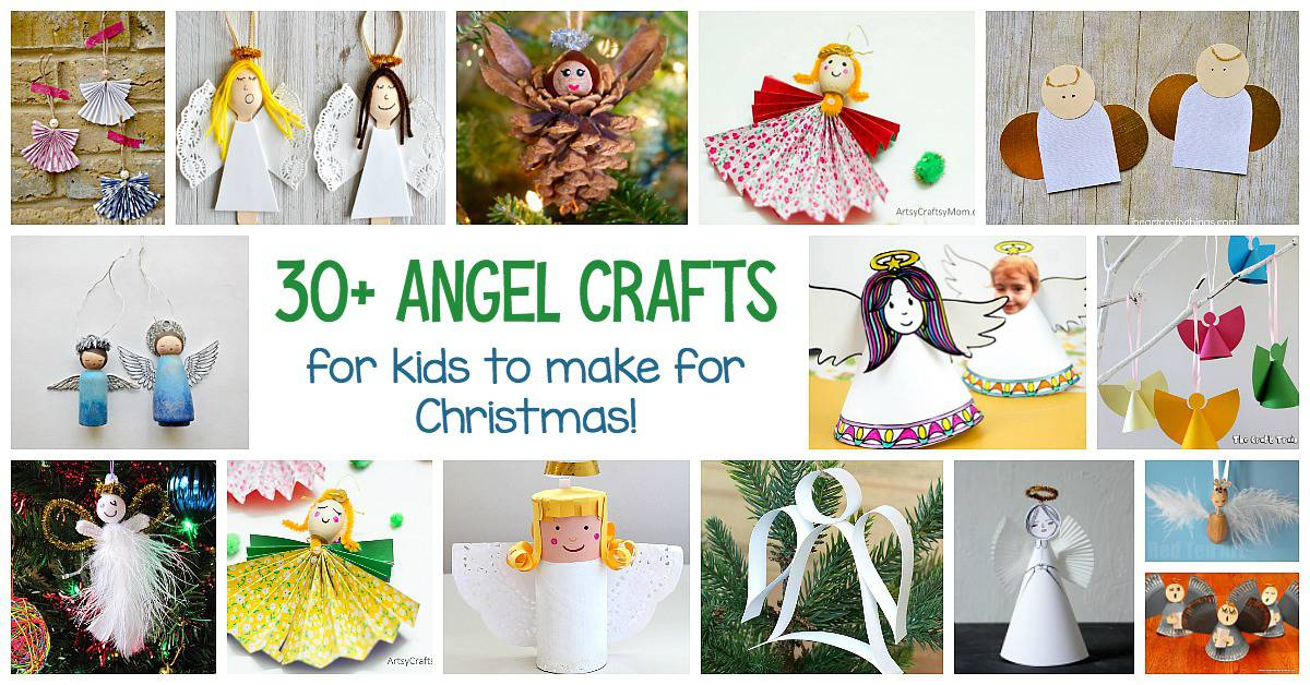30+ Angel Crafts for Kids using paper plates, pinecones, clothespins, cups, and more! Perfect for Christmas!