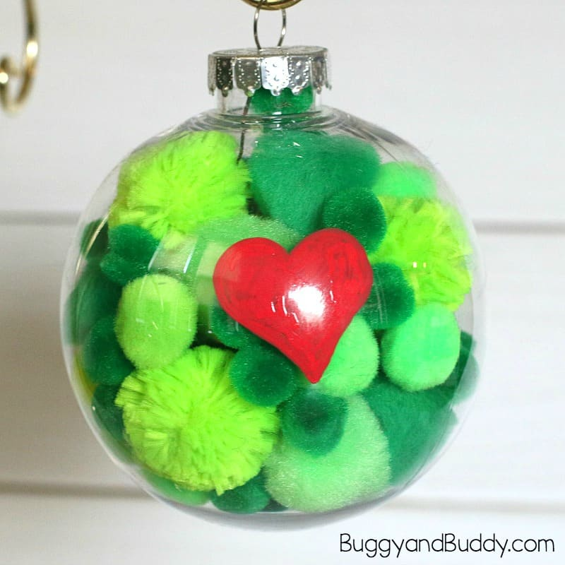 The Grinch Christmas Ornament Craft for Kids - Buggy and Buddy