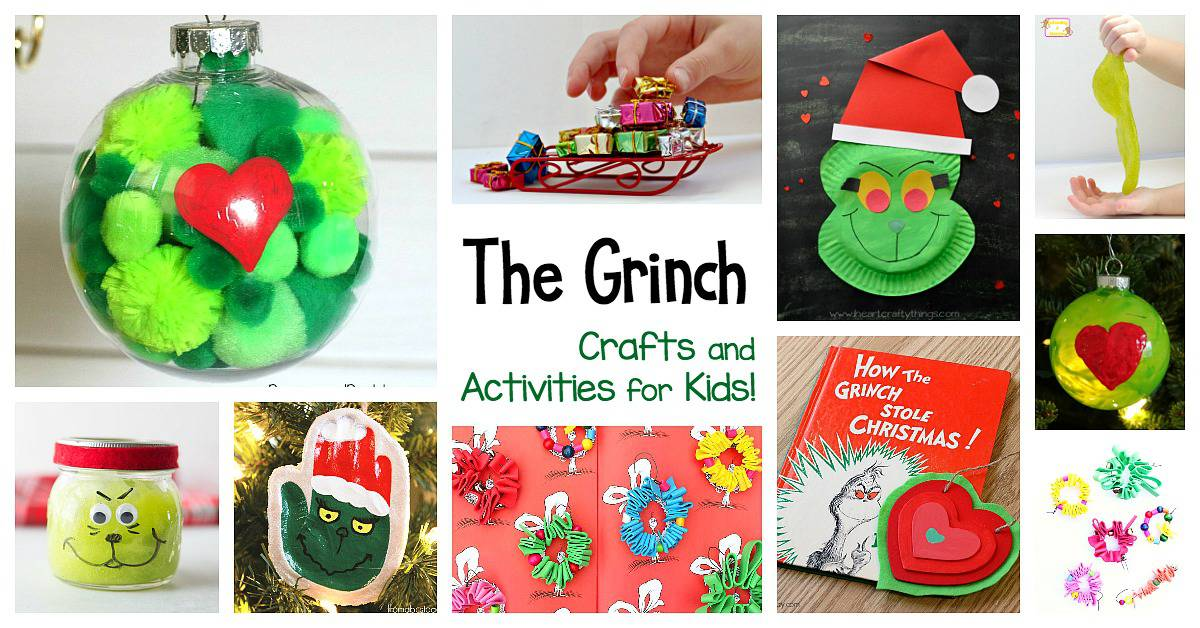 grinch crafts and activities for kids to do this christmas including grinch slime grinch ornaments