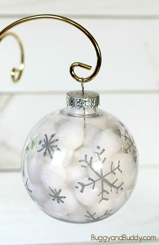 pom pom and bulb christmas ornament craft for kids