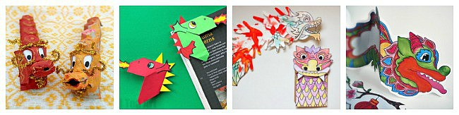 dragon crafts for kids for chinese new year