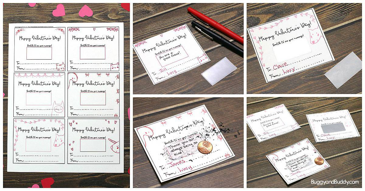 Set of 18 Premium Valentine/'s Day Scratch Off Cards Made in the USA By Palmer Street Press DIY Valentine Card Set for Kids or Adults SCRATCH TO FIND A VALENTINE Scratch Off Valentines Cards