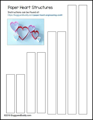 paper heart craft template