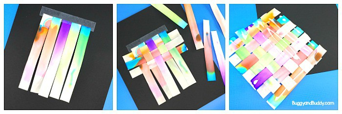 chromatography science experiment for kids using markers