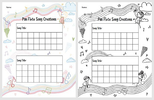 Homemade Pan Flutes for Kids with Free Printable Recording