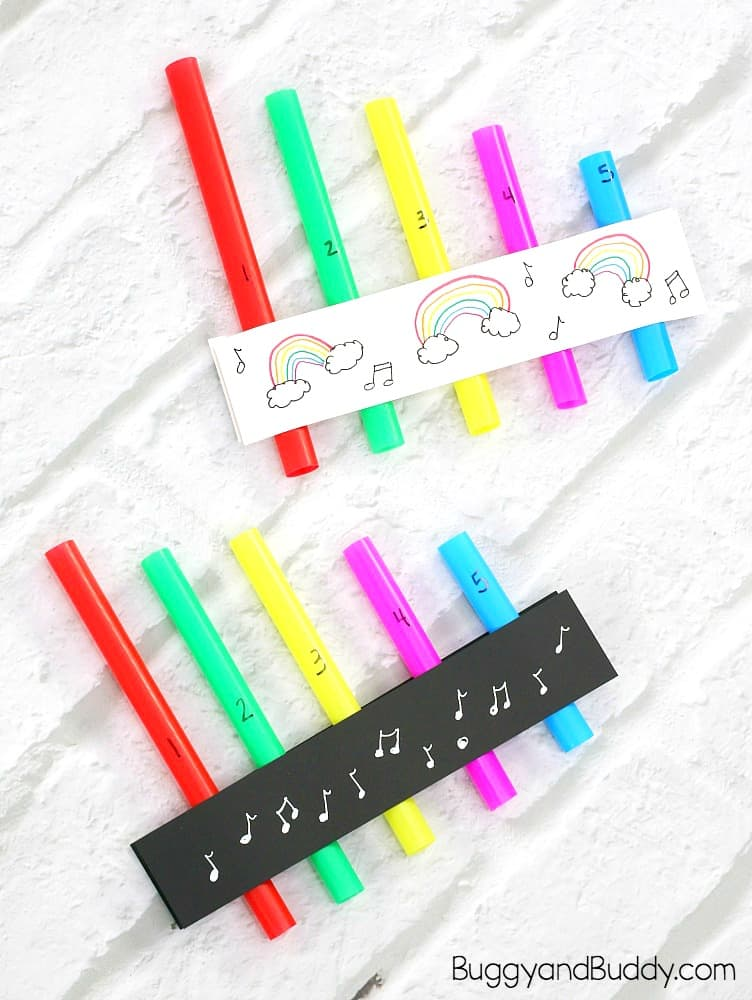 Pan flute craft and stem / science activity for kids