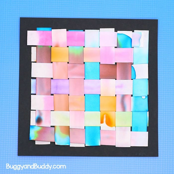 woven chromatography art project for kids- sTEAM / STEM activity