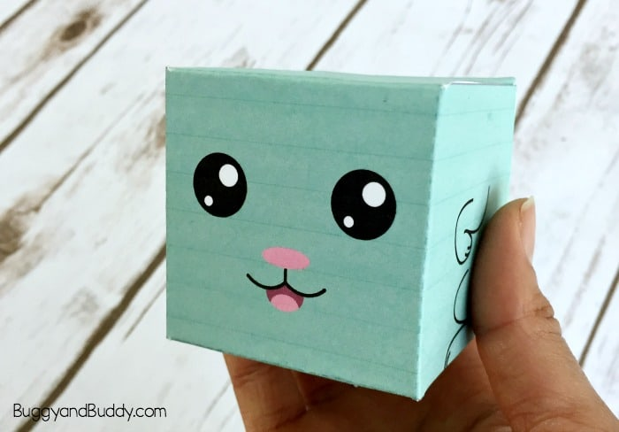 easter craft for kids: bunny box