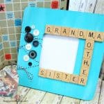 DIY Scrabble Tiles Picture Frame Craft for Mother's Day