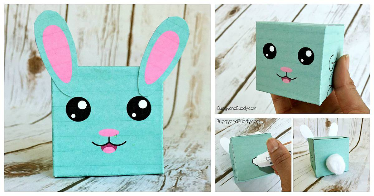 Easy Easter Craft For Kids Bunny Box Free Printable Template