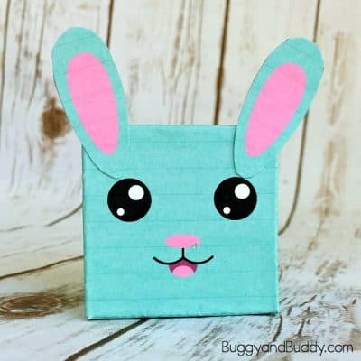 easy easter or spring craft for kids: bunny box craft with free printable template