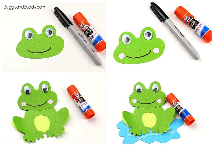 how to make a frog craft for kids