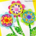 Mixed Media Flower Craft for Kids