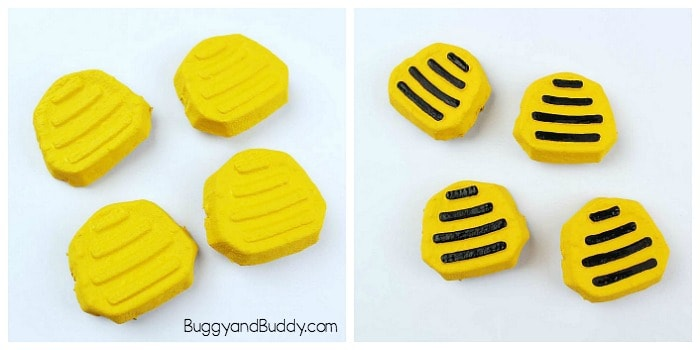 paint your bodies for your bumble bee craft for kids
