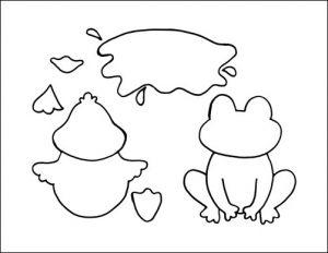 photo relating to Duck Template Printable identify Frog Craft and Duck Craft for Children with Template - Buggy and