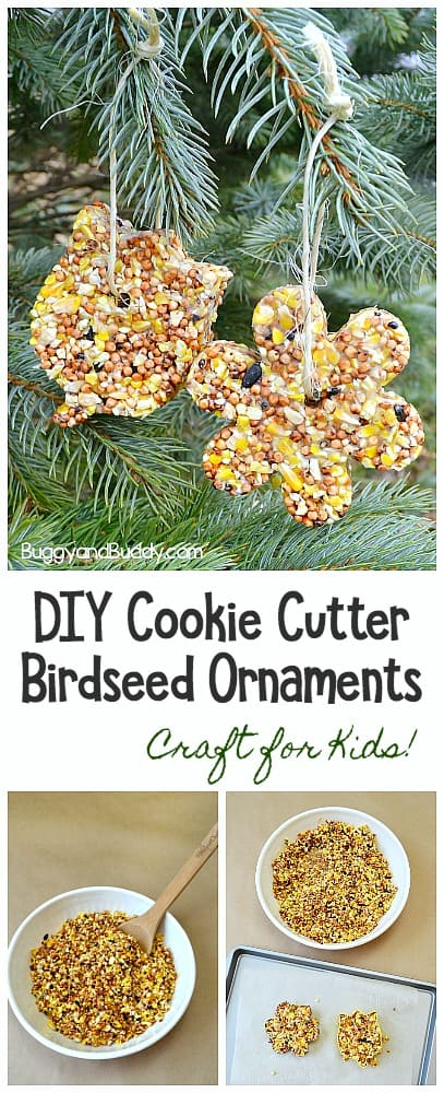 How to make cookie cutter birdseed ornaments craft for kids