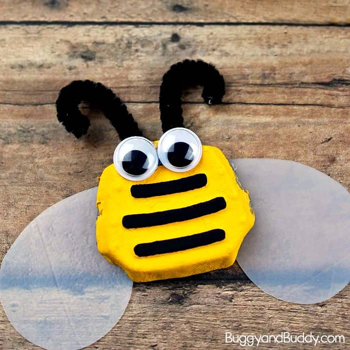 Bumble Bee Craft For Kids Using Recycled Materials Buggy And Buddy