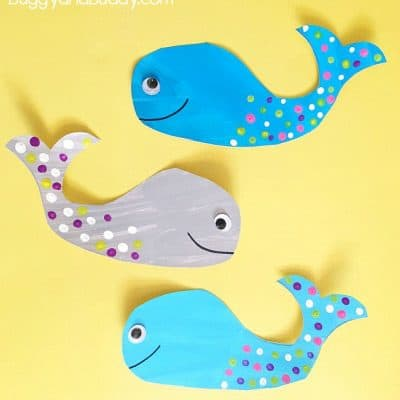 Whale Craft for Kids with Free Printable Template